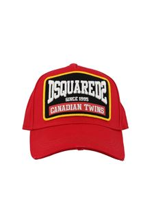 Dsquared2 - Used effect red baseball cap