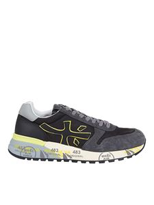Premiata - Mick 4059 suede and nylon sneakers in black
