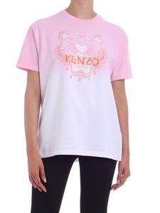 Kenzo - Tiger embroidery two-tone T-shirt