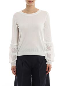 Twin-Set - Broderie anglaise sleeved sweater