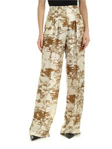 Max Mara - Acume pants in ivory and ocher color