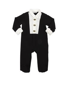 Dolce & Gabbana Jr - Black romper with embroidery