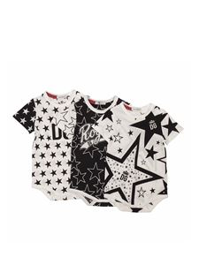 Dolce & Gabbana Jr - Three white and black DG Millennials romper