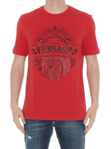 Versace Collection - Logo print T-shirt in red