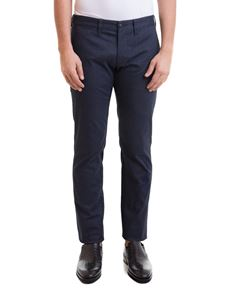 Emporio Armani - Herringbone pants in blue