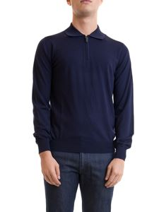 Brioni - Wool pullover with polo collar and zip