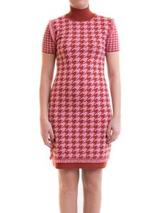 Blumarine - Houndstooth dress in red and pink