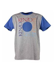 Kenzo - Melange gray T-shirt with contrasting sleeves