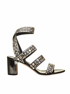Casadei - Babylon sandals with studs in black