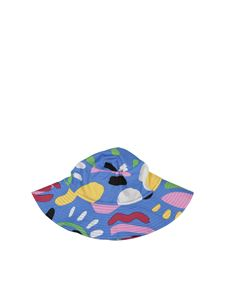 Stella McCartney Kids - Light blue hat with multicolor prints