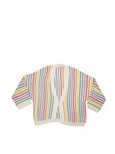 Stella McCartney Kids - Cardigan a righe multicolor