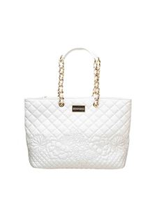 Ermanno Scervino - Giselle quilted bag in white faux leather