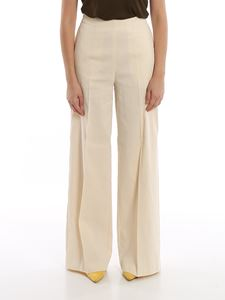 Pinko - Luigia 3 palazzo pants in cream color