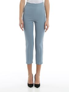 Pinko - Bea 4 stretch crepe pants in light blue