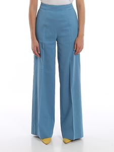Pinko - Luigia 3 palazzo pants in light blue