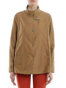 Fay - Hooded coat in camel color