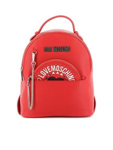 Love Moschino - Logo lettering backpack in red