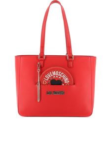 Love Moschino - Logo lettering tote in red