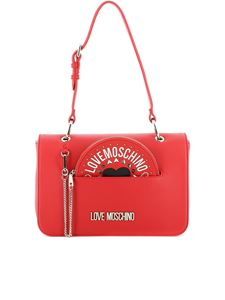 Love Moschino - Logo lettering shoulder bag in red