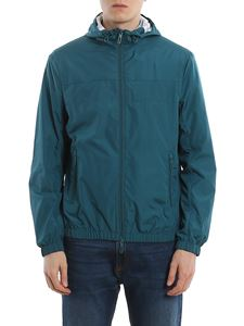 Emporio Armani - Technical fabric green jacket with hood