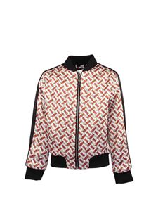 Burberry - Satin bomber jacket with monogram print