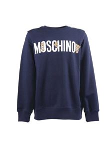 Moschino Kids - Navy blue Teddy Bear sweatshirt