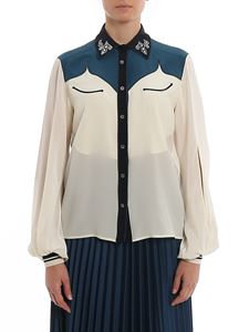 Golden Goose - Madelyn shirt in white and green