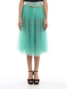 Elisabetta Franchi - Anchor embroidery tulle skirt