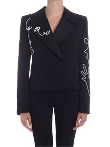 Moschino - Cornely embroidery crepe jacket in black