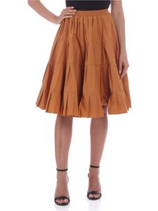 See by Chloé - Flounced skirt in peanut butter color