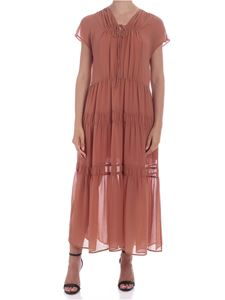 See by Chloé - Blushy brown colored semi-transparent dress