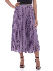Paul Smith - Stars print pleated crepe skirt in lilac