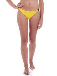 Karl Lagerfeld Beachwear - Branded clip bikini slip in yellow