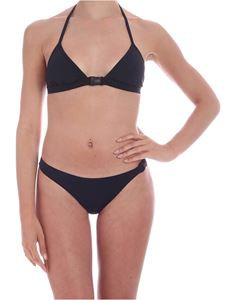 Karl Lagerfeld Beachwear - Branded clip bikini top in black