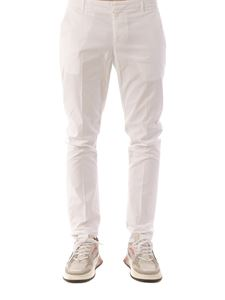 Dondup - Gaubert stretch cotton pants in white