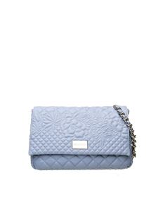 Ermanno Scervino - Giselle quilted bag in light blue leather