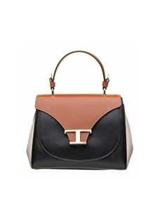 Tod's - Mini handbag with logo in brown, black and white