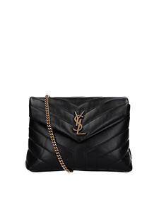 Saint Laurent - Small Loulou quilted leather bag in black