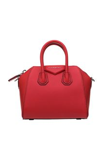 Givenchy - Mini Antigona grained leather bag in red