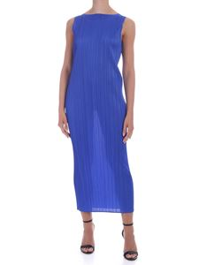 PLEATS PLEASE Issey Miyake - New Colorful Basic 2 dress in electric blue