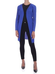 PLEATS PLEASE Issey Miyake - New Colorful Basic 2 cardigan in electric blue