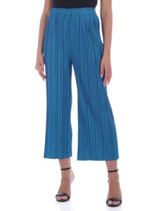PLEATS PLEASE Issey Miyake - Mellow pants in teal blue color