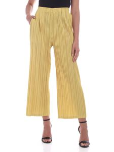 PLEATS PLEASE Issey Miyake - Mellow pants in yellow