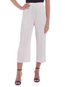PLEATS PLEASE Issey Miyake - Mellow pants in pearl grey color