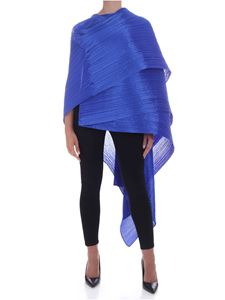 PLEATS PLEASE Issey Miyake - Colorful Madame stole in blue