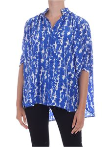 Christian Wijnants - Tadi blouse in white and blue