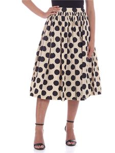Casey Casey - Double Rideau skirt in beige and dark blue