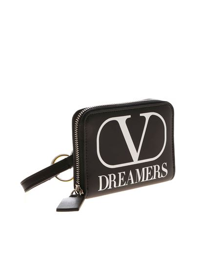 Valentino Garavani - VLogo Dreamers black wallet with shoulder strap
