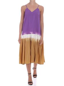 Sea New York - Zelda dress in white and purple and camel color