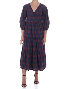 Sea New York - Penny dress in blue and wine color